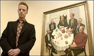 Stuart Pearson Wright with The Six Presidents of the Royal Academy