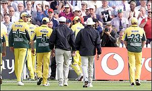 Warne had warned at such action should fans get out of control