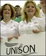 Trainee nurses and Unison members