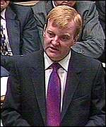 Charles Kennedy responds in the Commons on Wednesday