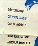 [ image: Death rates for cervical cancer are falling]
