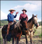 Preston Bates + Tim Whewell, NM, July 98