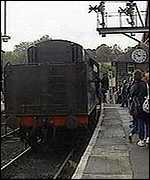 [ image: One of the stations along the North York Moors Railway]