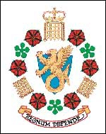 [ image: MI5's coat of arms reflects its military heritage]
