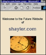 [ image: More in the future? David Shayler's current Website]