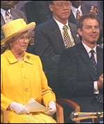 [ image: The Queen and Tony Blair: Said to be in disagreement over plans for the plane]