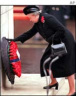 Queen laying a wreath