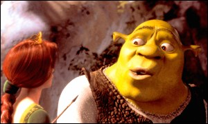 Shrek stars an ugly, fat ogre
