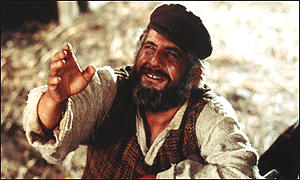 Topol as Tevye in the classic film of Fiddler on the Roof 