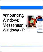 Announcing Windows XP and the new messaging system on the website