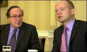 Michael Ancram and Tory leader William Hague