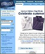 Lands' End homepage