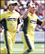 Brett Lee (right)