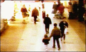 CCTV footage of James Bulger's abduction