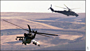 Macedonian attack helicopters