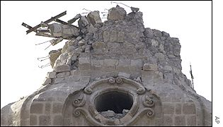 Damage to Arequipa cathedral