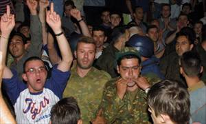 Thousands of nationalists beseige Skopje's parliament building