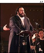 Pavarotti performing at the Forbidden City, Beijing