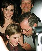 Haley Joel Osment and Steven Spielberg