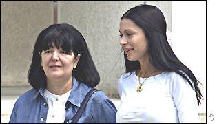 Slobodan Milosevic's wife, Mirjana Markovic and daughter-in-law Milica Gajic on Wednesday