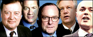 Ken Clarke, Michael Portillo, Michael Ancram, David Davis and Iain Duncan Smith