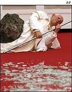 Cattelan's image of the Pope
