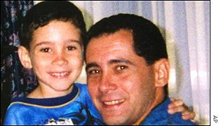 Elian Gonzalez with his father