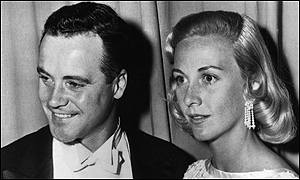 Lemmon with wife Cynthia Stone in 1956