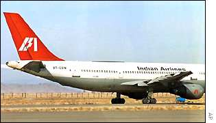 Indian Airlines plane