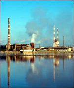 Smoking factory chimneys BBC