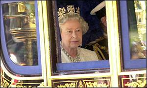 Queen Elizabeth II at the State Opening of Parliament 2001