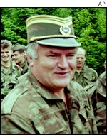 Former Bosnian Serb military leader Ratko Mladic in 1996