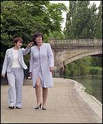 Tessa Jowell and Rosa Monckton