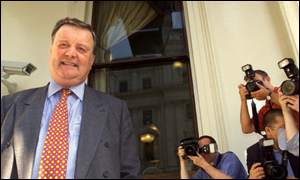Kenneth Clarke after declaring his candidature in the leadership race