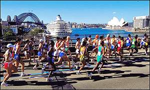 Marathon runners at the Sydney Olympics