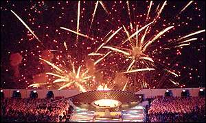 Fireworks at Sydney's opening ceremony