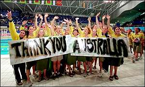 The Australian Olympic swimming team