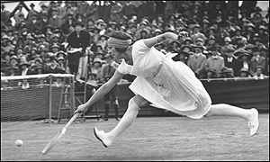 Suzanne Lenglen changed the face of womens' tennis fashion