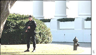 Secret Service Sharp Shooters outside the White House