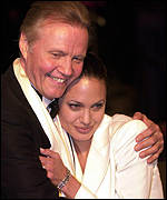 Father and daughter Jon Voight and Angelina Jolie