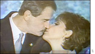 Vicente Fox and Martha Sahagun