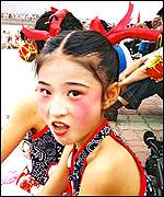 A Chinese girl during an official visit