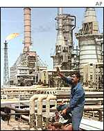 Al Basra oil refinery in Iraq
