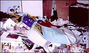 A police photo of Barry George's flat