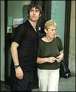 Liam with mum Peggy outside the hospital