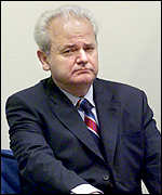 Slobodan Milosevic in court