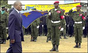 DR Congo President Joseph Kabila during the country's independence celebrations