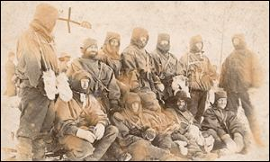 Photo of the men on the expedition