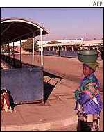 Empty bus terminal