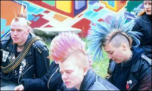 Punks with mohicans